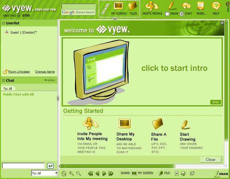 Vyew.com: incontrarsi e condividere contenuti in tempo reale