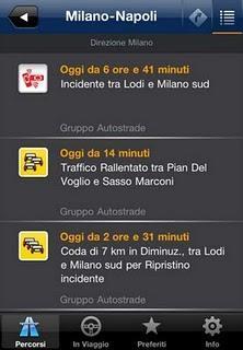 Sempre informato sulle condizioni del traffico con l'app Infoblu Traffic.