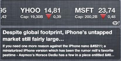 RSSWidget for iOS 5 iPhone 414x210 RSSWidget, primo widget per gli RSS nel Centro Notifiche di iOS 5 [Cydia]
