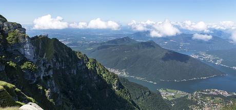 Il panorama dal Monte-Generoso con il Lago di Lugano sullo sfondo
