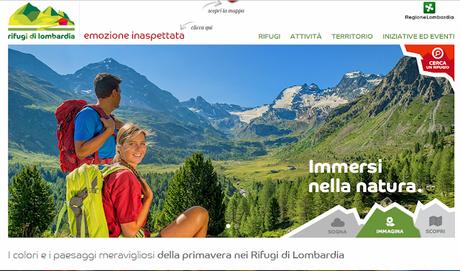Il portale web dell'associazione dei gestori rifugi alpinistici ed escursionistici della Lomabrdia.
