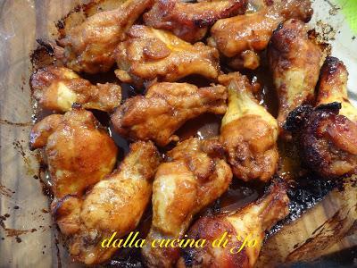 Alette di pollo a tutte spezie e miele
