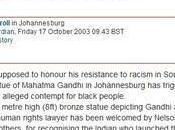 giornale britannico Guardian luce razzismo Gandhi confronti delle persone colore
