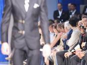 Crawford Criss Quinto Qwanten sono arrivati alla sfilata Versace tutti impomatati