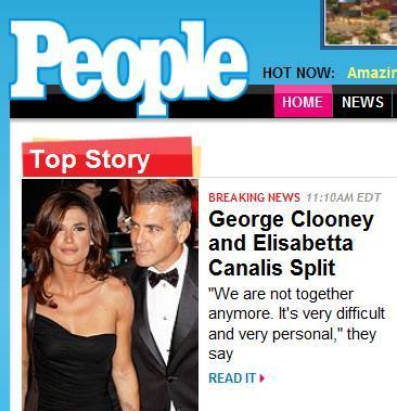George Clooney è tornato single!!