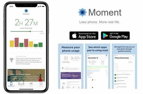 Moment | l'app che ci ricorda quanto tempo siamo connessi