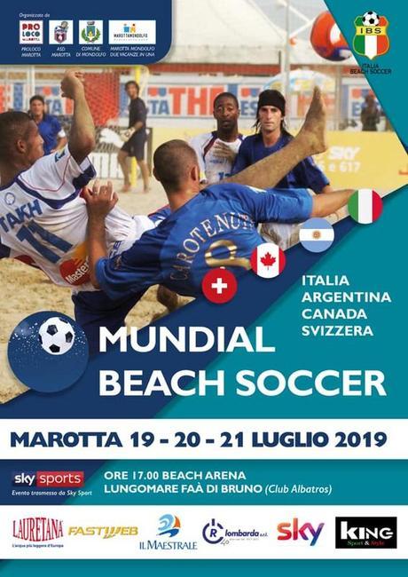 A Marotta (PU) dal 19 al 21 luglio 2019 il Mundial Beach Soccer, tra sport e divertimento