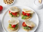 Mini burger vegetali piadina