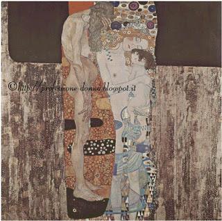 Schema punto croce: Le tre età della donna - Klimt
