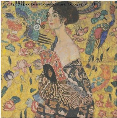 Schemi per il punto croce: Lady with fan - Gustav Klimt -