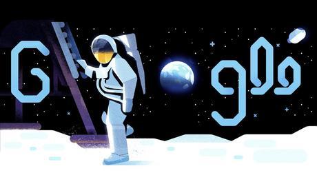 Il doodle di Google ricorda lo sbarco sulla Luna di 50 anni fa