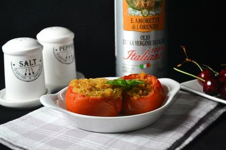 Pomodori gratinati saporiti al forno