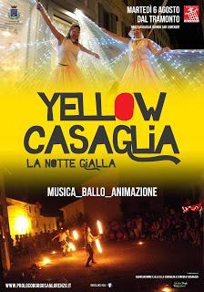 Notte magica con Yellow Casaglia