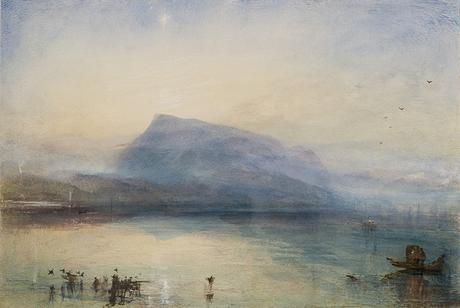 The Blue Rigi, alba - 1842. Acquarello su carta (C) Tate, Londra 2019