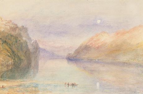 Un lago svizzero - ca. 1841. Acquarello e matita su carta - (C) Manchester Art Gallery/Bridgeman Images