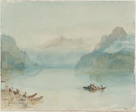 Il Lago di Lucerna, La baia di Uri da Brunnen - ca. 1841-42. Acquarello su carta - (C) Tate Londra 2019