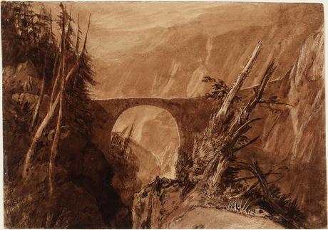 Il Ponte del Diavolo - ca. 1806/07. Matita e acquarello su carta - (C) Tate londra 2019
