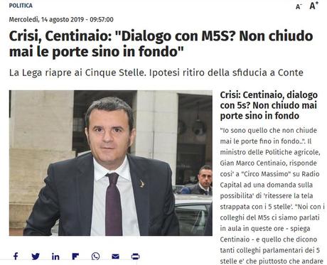 #Crisidigoverno: l'errore di #Salvini ed il rischio di perdere la partita