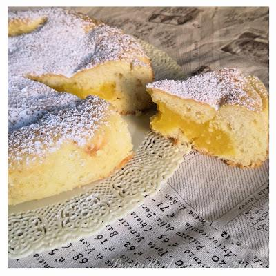 Torta morbida con lemon curd (senza lattosio)