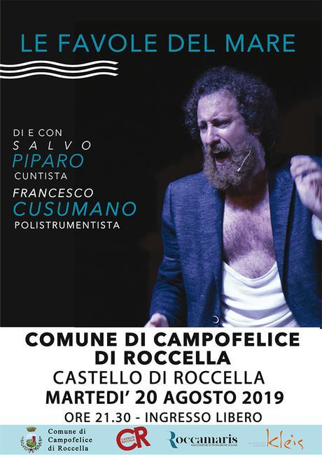 Surra Le Favole del Mare: Salvo Piparo e Francesco Cusumano in scena a Roccamaris