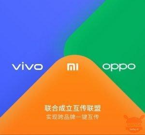 Xiaomi, OPPO e Vivo stringono una partnership per il trasferimento dei file