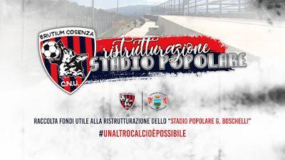 Brutium Cosenza, lanciata raccolta fondi completare ristrutturazione dello stadio popolare Boschelli