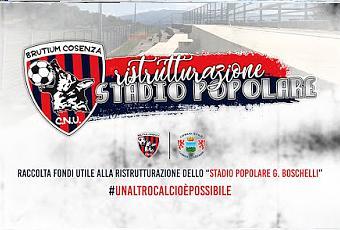 Brutium Cosenza, lanciata la raccolta fondi per completare la ristrutturazione dello stadio popolare