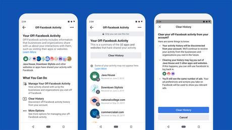 Facebook rilascia uno strumento per scollegare i dati, non per cancellarli