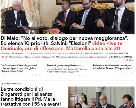 #Crisidigoverno: #consultazioni terminate, #Mattarella parla alle ore 20 ?