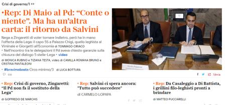 #Pd5Stelle, si arenano le trattative, rispunta #Salvini, verso #elezionianticipate?
