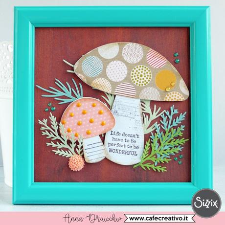 Quadretto autunnale con funghi - DIY Frame art with Toadstool mushroom