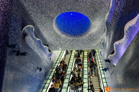 Stazione metro Toledo, Napoli, Italia