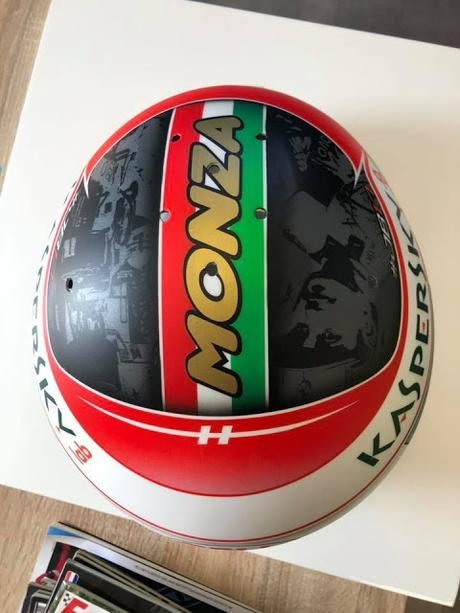 Bell HP77 C.Leclerc Monza 2019 by Adrien Paviot - painted by BS Designs
