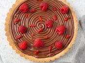 Crostata cioccolato lamponi goji