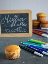 Muffin alla ricotta con cuore morbido di cioccolata