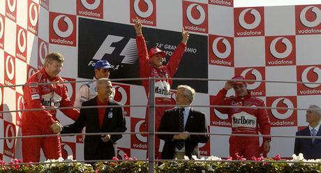 Vittoria sofferta per Schumacher al Gran Premio d'Italia 2003