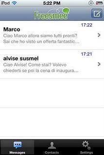 Freesmee, invia sms gratis via internet da iPhone, iPad e iPod Touch.