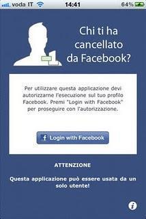 Chi ti ha cancellato da Facebook?