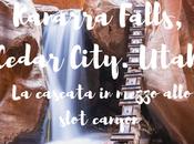 Kanarra Falls, Cedar City. Utah. cascata mezzo allo slot canyon