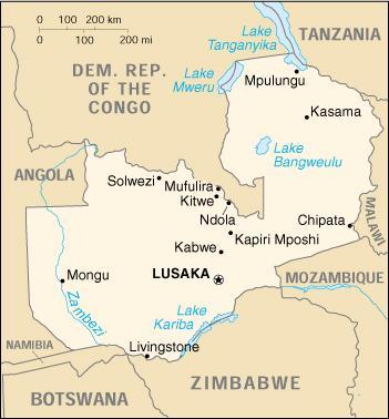 Risultati immagini per zambia cartina