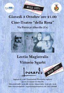 """""""LEONARDO"""", Lectio Magistralis  del Dott. Vittorio Sgarbi"""