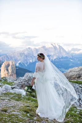 vestito sposa montagna