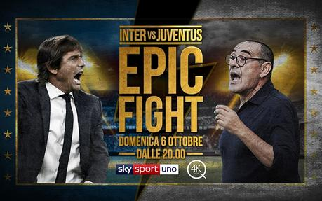 Serata da record per Inter-Juventus, partita più vista di sempre su Sky Sport
