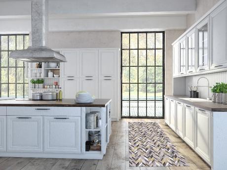 stuoia cucina lavabile colori grigio e giallo