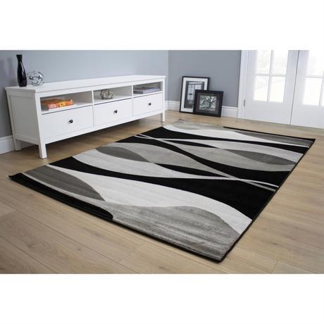 tappeti moderni colori bianco e nero