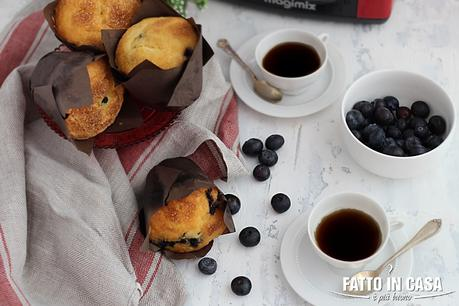 Muffin Morbidi ai Mirtilli