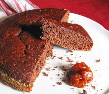 torta leggera all'acqua e cacao