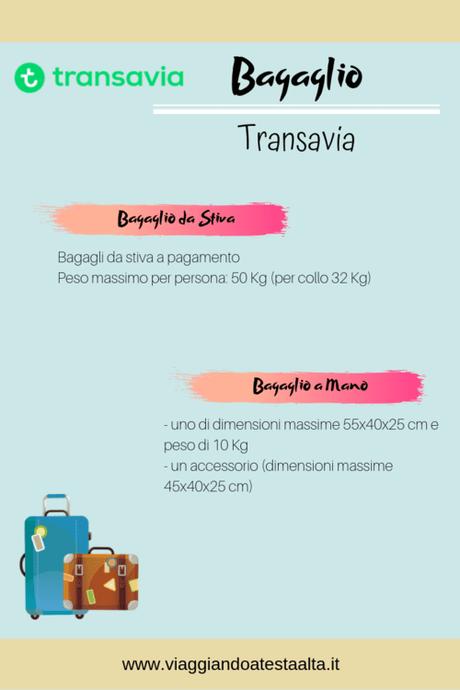 Bagaglio Transavia: tutto quello che devi sapere