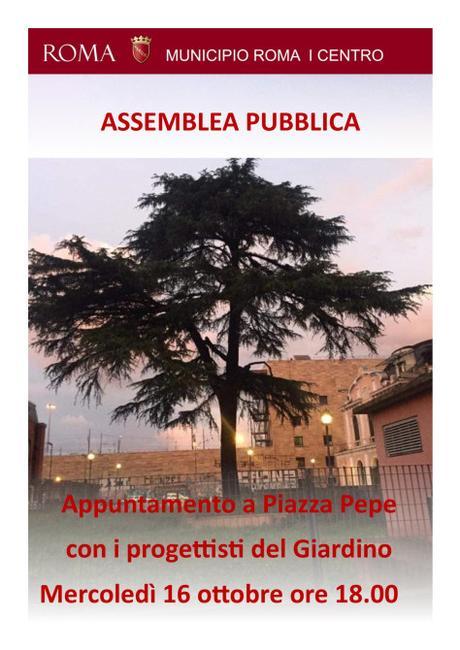 16 ottobre 2019 Assemblea pubblica a Piazza Pepe per illustrare i lavori di riqualificazione del giardino