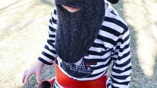 Costume da pirata con barba